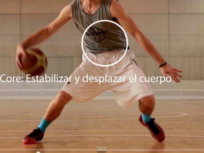 La zona media en el jugador de baloncesto, el core o núcleo.